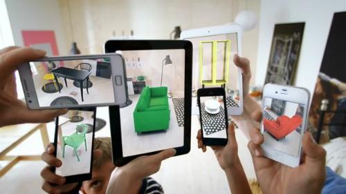Ứng dụng thực tế ảo tăng cường của Ikea.