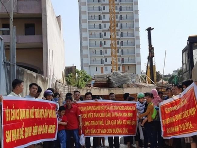 AZ Thăng Long,Bright City,dự án nhà ở xã hội,biểu tình đòi nhà,Tân Bình Apartment