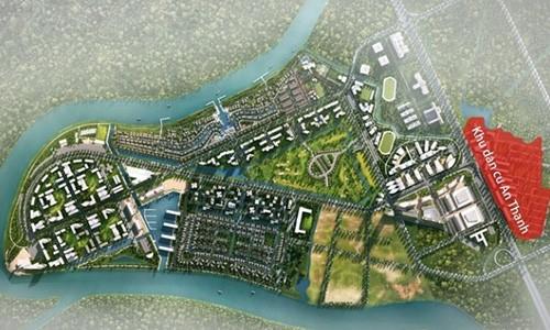 Phối cảnh dự án tại Long An của Nam Long.