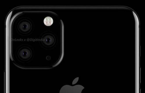 Hình dung về cách sắp xếp ống kính trên iPhone của Onleaks.