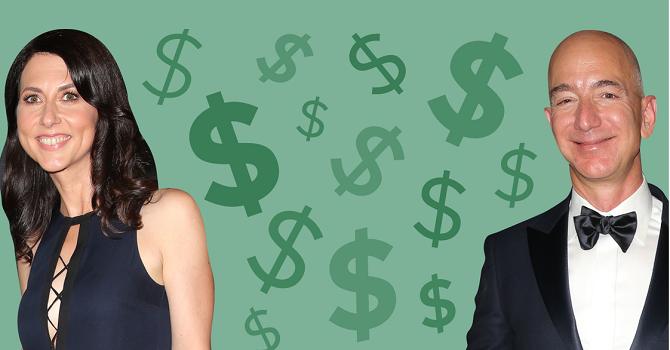 """""""Kịch bản"""" phân chia 137 tỷ USD trong vụ ly hôn của tỷ phú Jeff Bezos"""