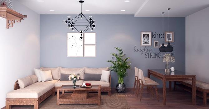Đầu tư 178 triệu cho nội thất căn hộ 86m2 đơn giản, đẹp và hiện đại
