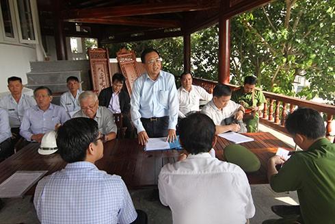 Bị lập chốt chặn, khu biệt thự Ocean View Nha Trang vẫn ngang nhiên xây dựng trái phép - ảnh 1