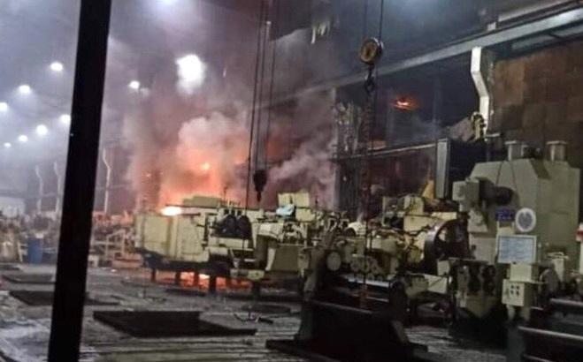 Cháy lớn trong khu chế xuất Tân Thuận