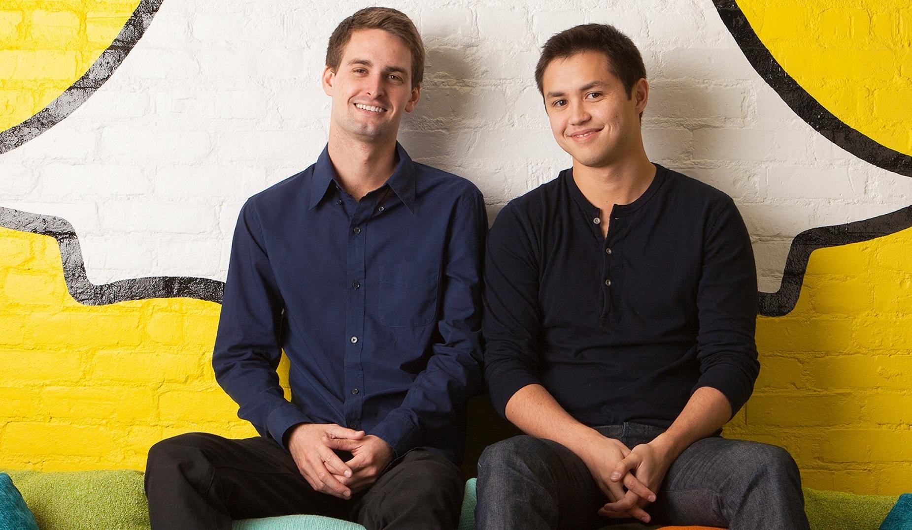 Hai đồng sáng lập Snapchat kiếm thêm 2,7 tỷ USD chỉ sau vài giờ