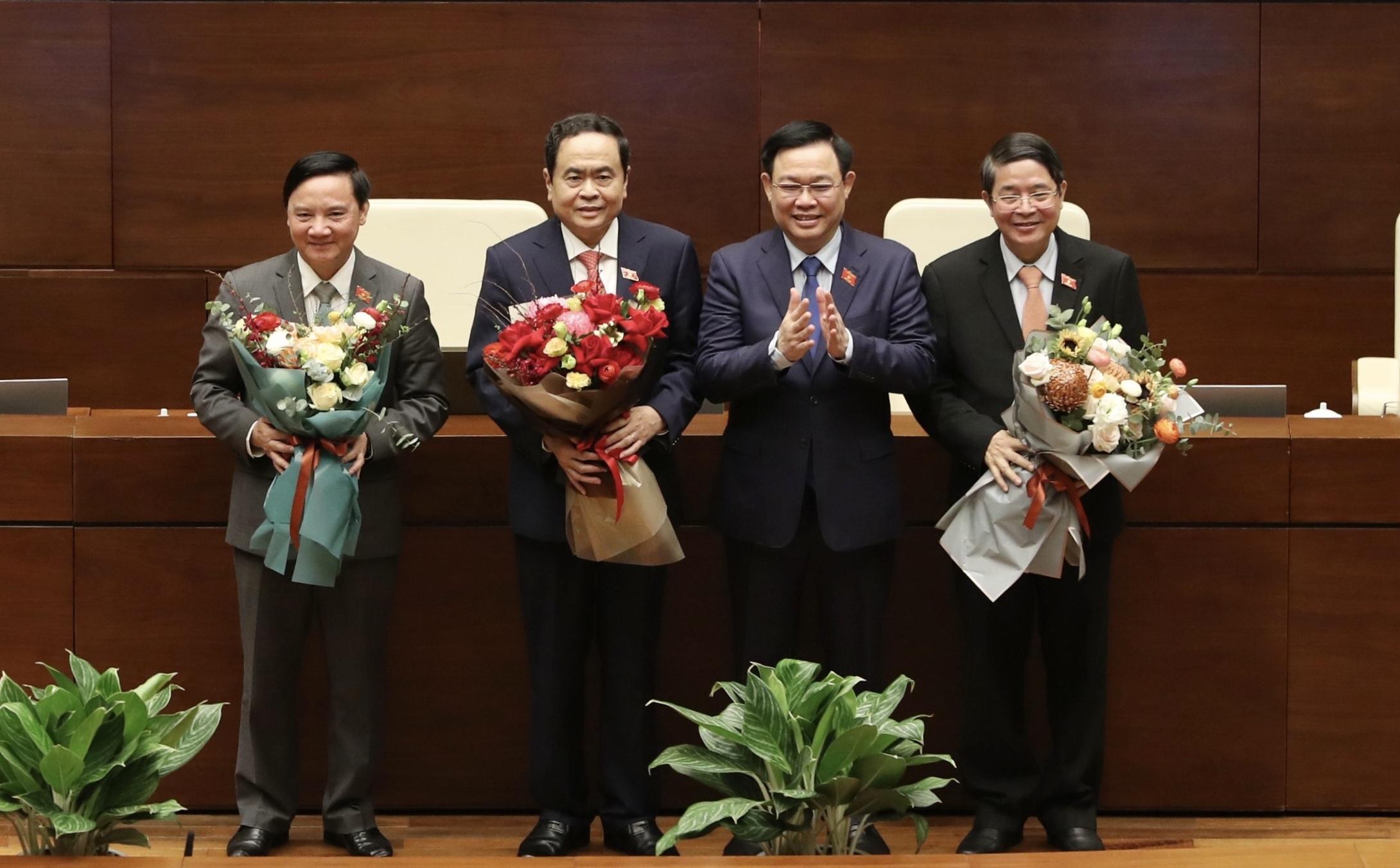 Quốc hội có 3 Phó chủ tịch mới