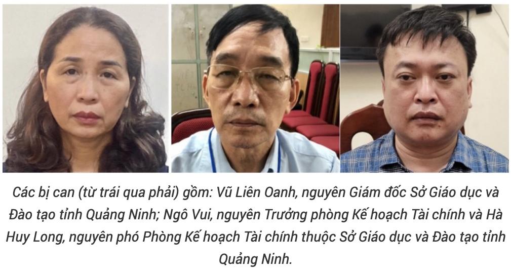 Nguyên Giám đốc Sở Giáo dục và Đào tạo tỉnh Quảng Ninh bị bắt