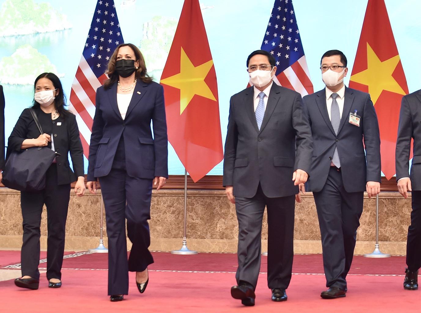 [Ảnh] Cuộc gặp của Phó tổng thống Mỹ Kamala Harris với các lãnh đạo Việt Nam
