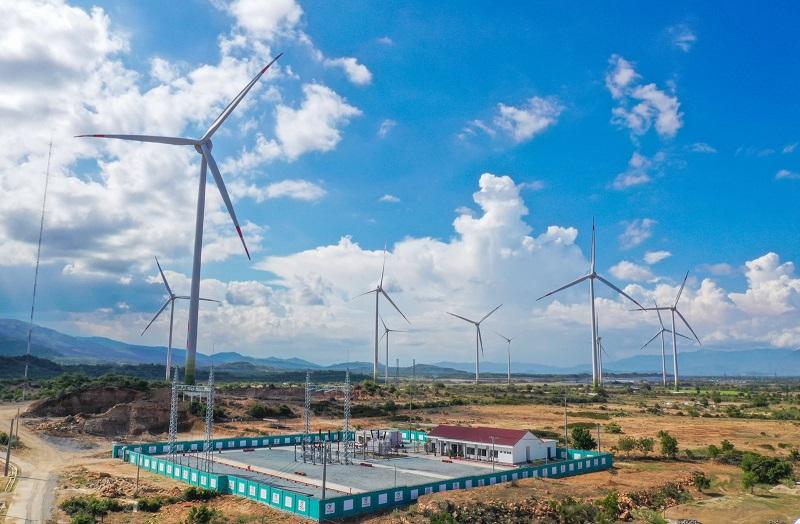 Trung Nam Group vận hành thương mại toàn bộ dự án điện gió ở Ninh Thuận