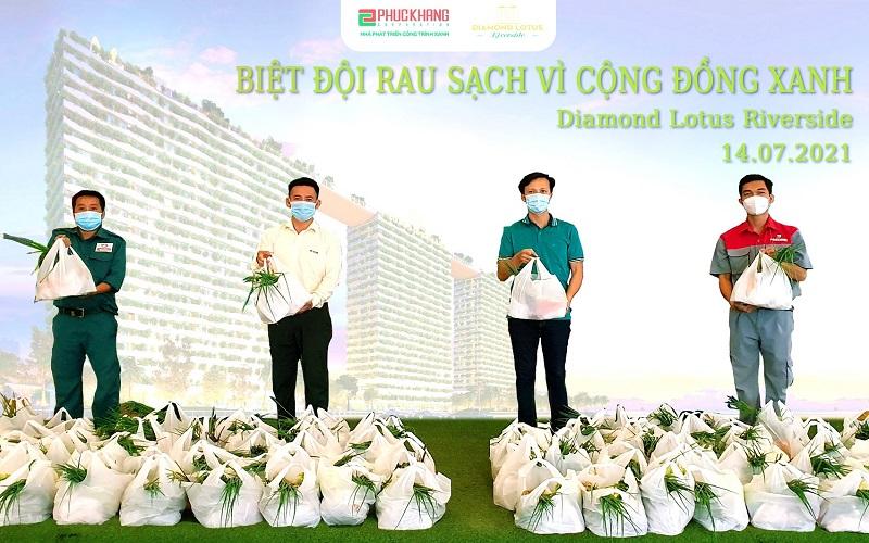 Phúc Khang tặng hơn 10 tấn rau sạch tới cư dân