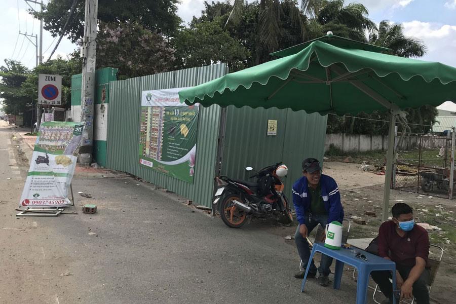 """Một dự án """"ma"""" nhưng được rao bán rầm rộ tại phường An Phú Đông, quận 12, TPHCM. Ảnh: P.V"""