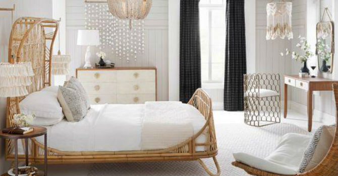 Mê mẩn mẫu giường mây cho phòng ngủ phá cách