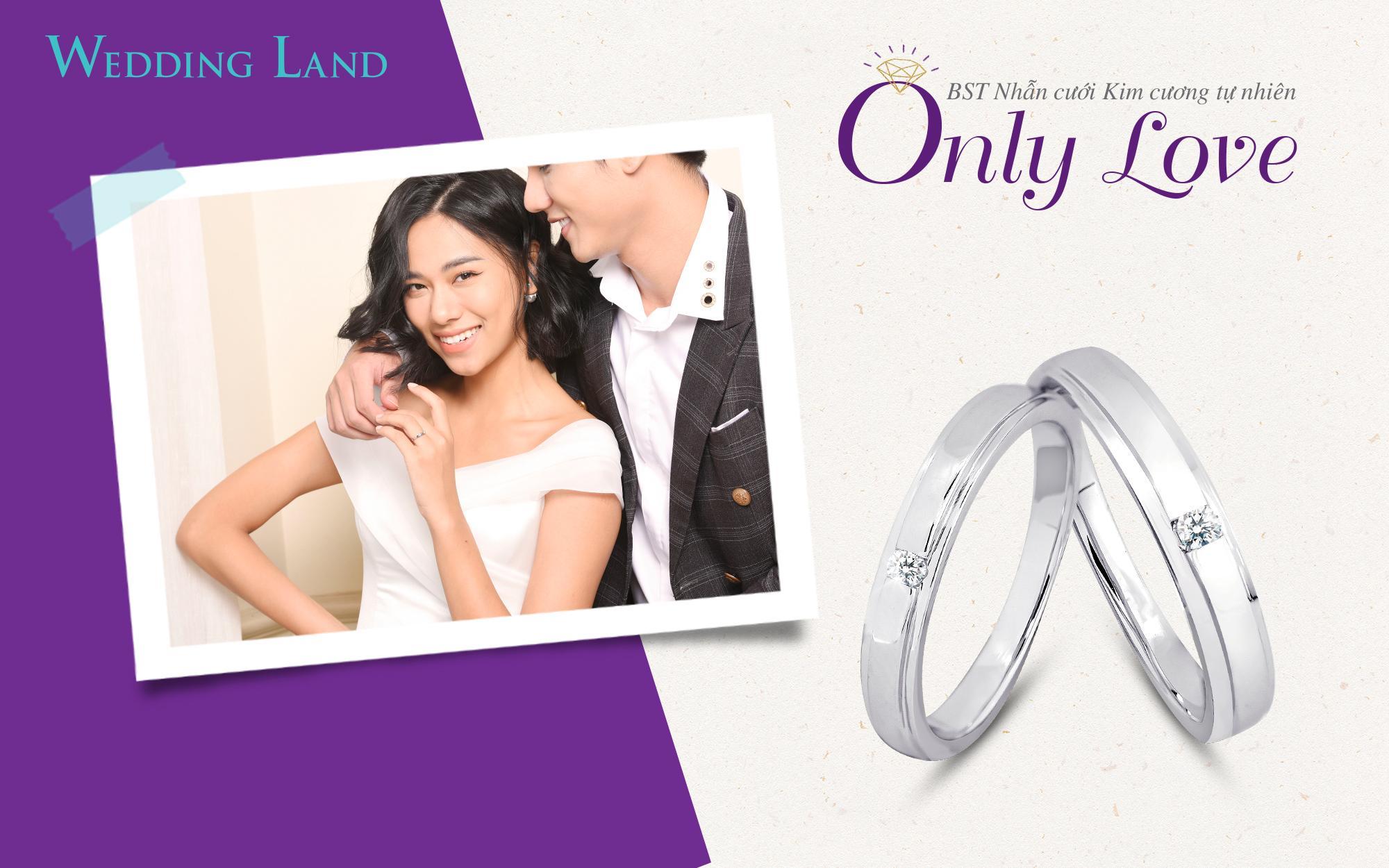 Nhẫn cưới kim cương tự nhiên của Wedding Land giá chỉ từ 8 triệu đồng