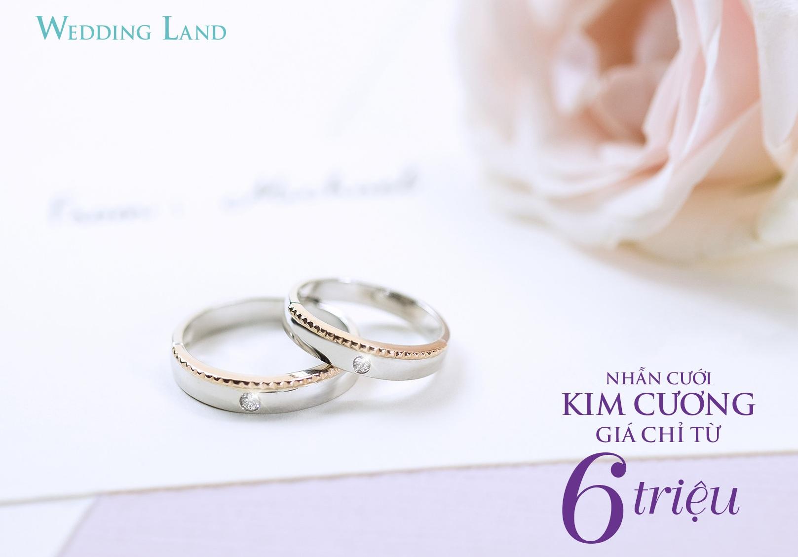 """Cận cảnh nhẫn cưới kim cương giá 6 triệu đồng """"hot"""" nhất thị trường"""