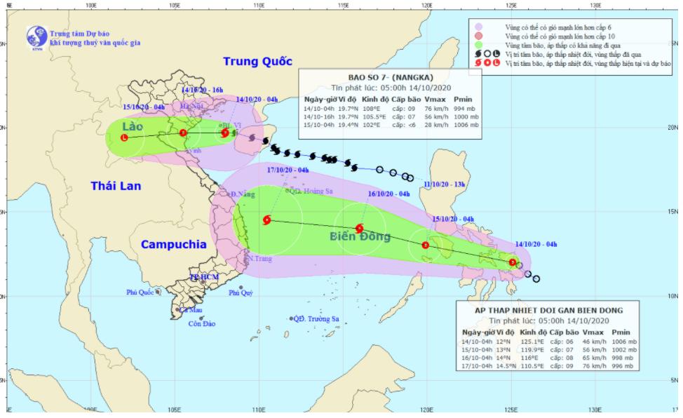 Tin bão khẩn cấp: Cơn bão số 7 tiến vào đất liền, áp thấp nhiệt đới mới lại xuất hiện gần biển Đông