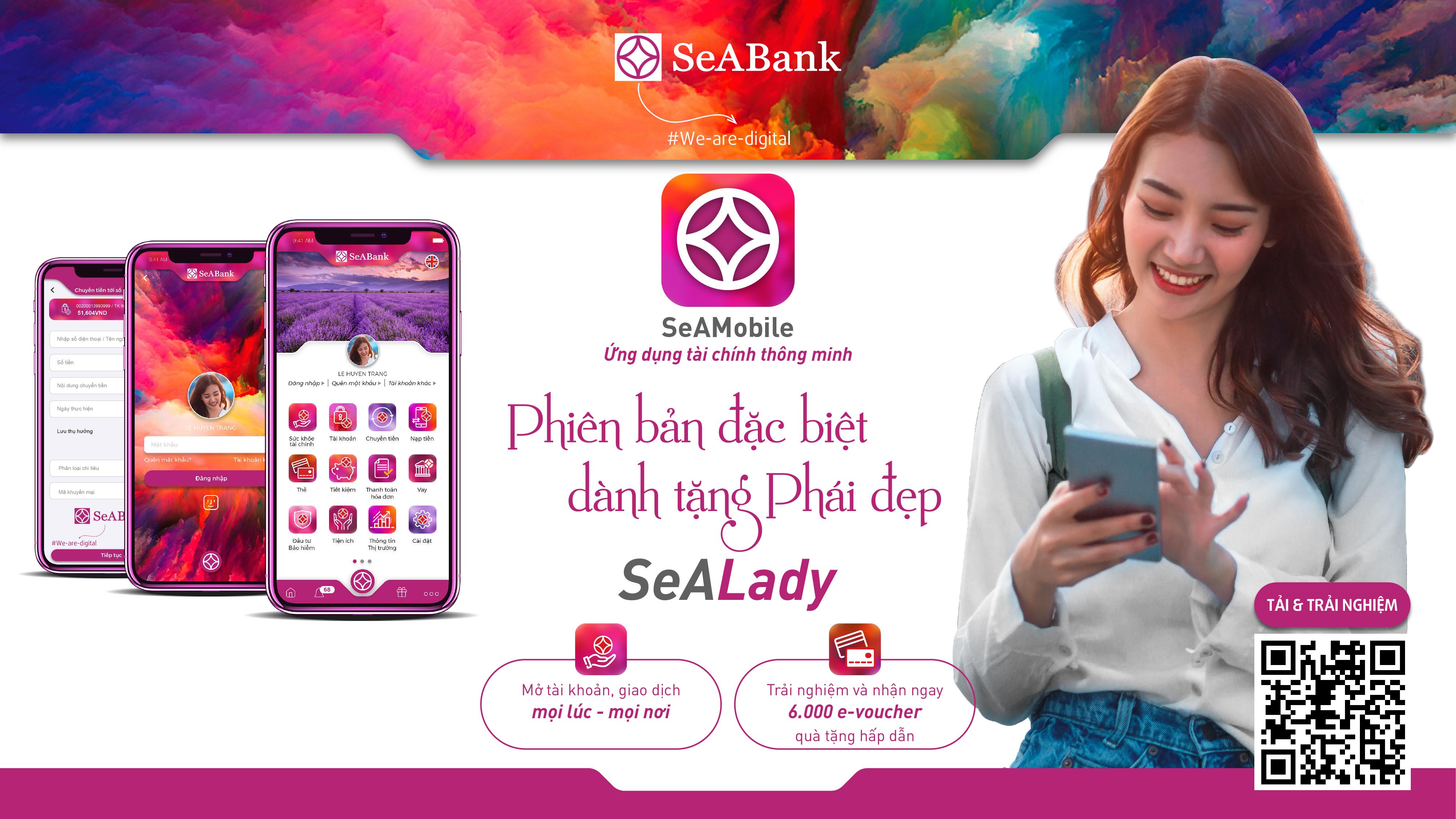 SeABank ra mắt ứng dụng ngân hàng số SeAMobile phiên bản đặc biệt dành riêng cho phái đẹp - SeALady