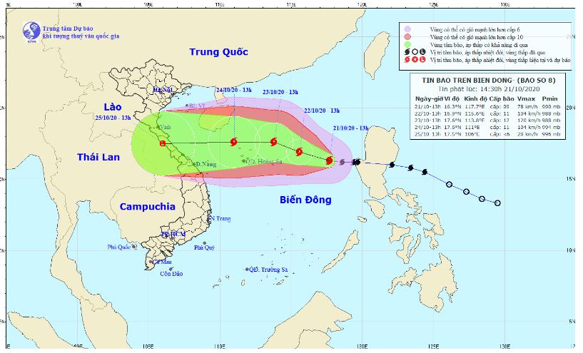 Bão Saudel giật cấp 11 đang mạnh dần lên, cách quần đảo Hoàng Sa hơn 500km