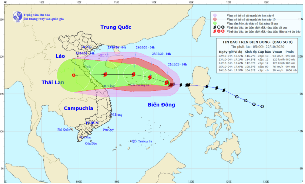 Bão số 8 tăng lên cấp 13, nguy cơ sạt lở cao ở vùng núi từ Hà Tĩnh đến Thừa Thiên Huế