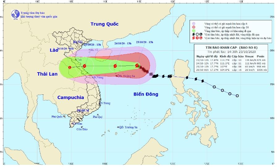 Bão số 8 gây mưa lớn cho Nghệ An đến Thừa Thiên Huế, khả năng xuất hiện một đợt lũ mới