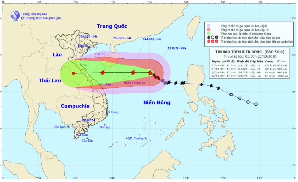 Bão số 8 giật cấp 15, Hà Tĩnh, Quảng Bình vẫn còn hơn 46.000 hộ dân ngập lụt