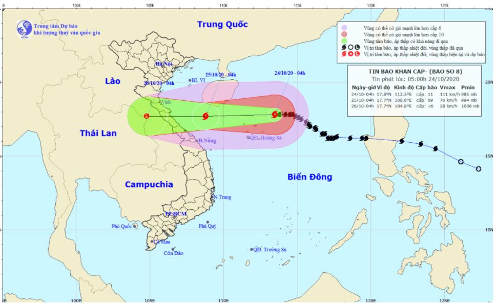 Bão số 8 sẽ suy yếu khi vào đất liền, biển Đông sắp đón bão số 9