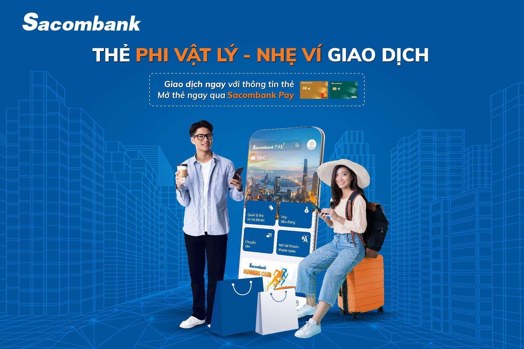 Mở thẻ phi vật lý dễ dàng trên ứng dụng Sacombank Pay