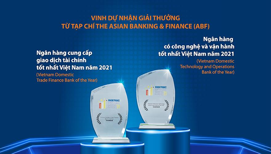 Sacombank nhận 2 giải thưởng từ The Asian Banking and Finance