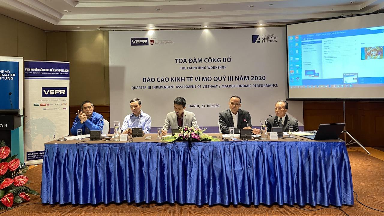 VEPR: Tăng trưởng kinh tế năm 2020 lạc quan cũng chỉ 2,8%