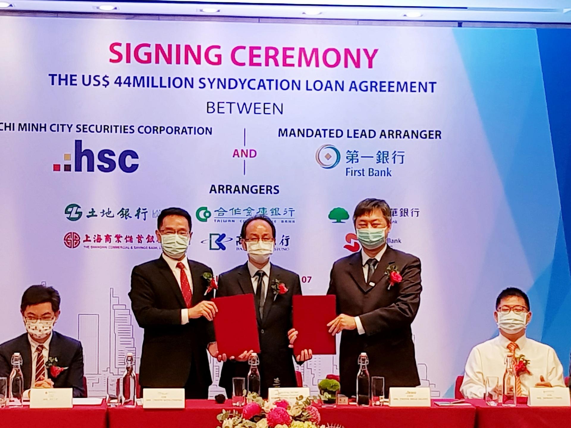 Chứng khoán HSC nhận khoản vay hợp vốn hơn 1.000 tỷ đồng từ nhóm các định chế tài chính Đài Loan