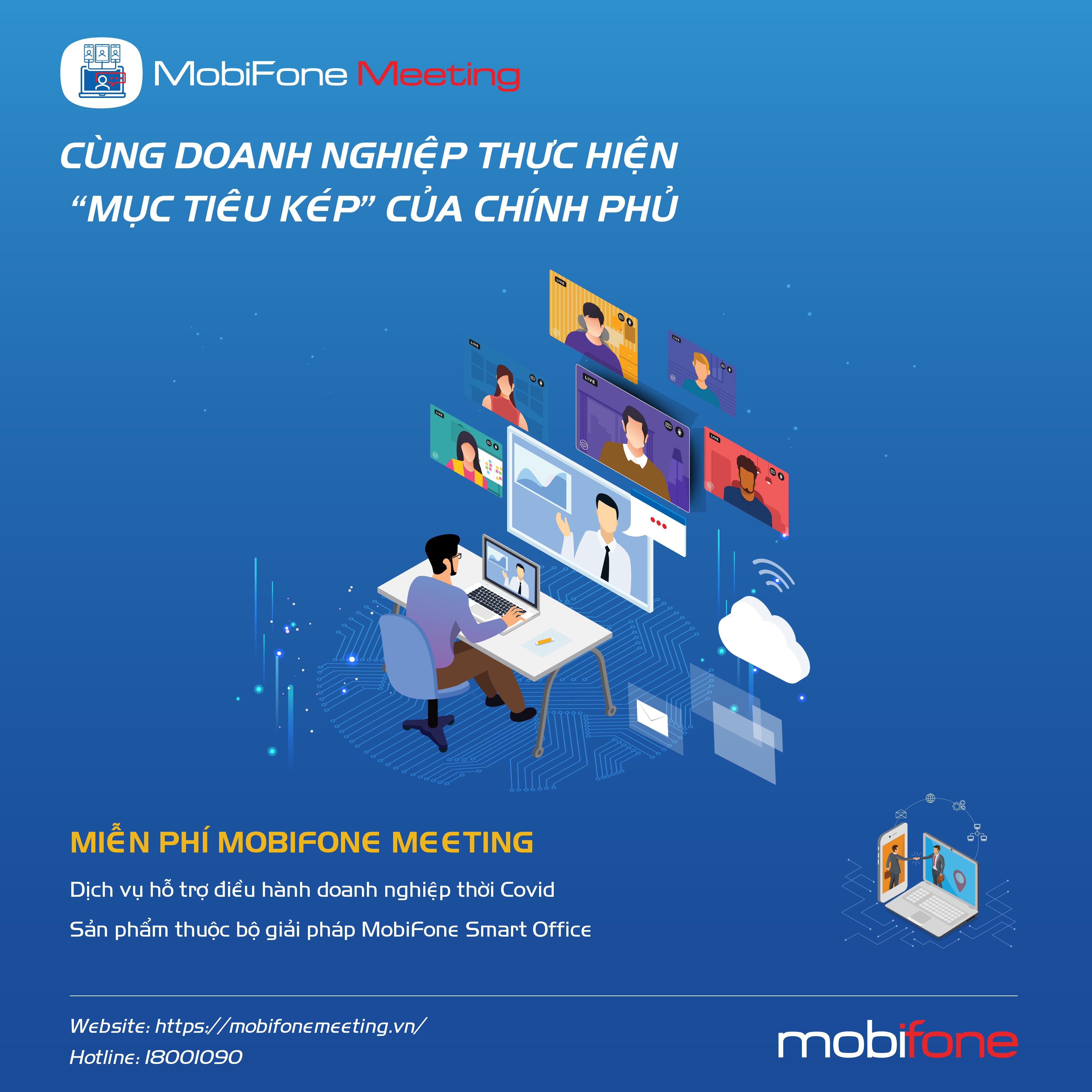 """Chọn """"phòng họp ảo"""" MobiFone Meeting, doanh nghiệp lợi gì?"""