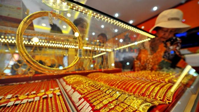 Giá vàng SJC chuyển động cùng chiều vàng thế giới