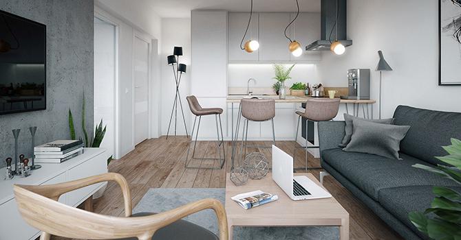 Ngắm nhìn căn hộ nhỏ gọn, tiện nghi và lịch lãm