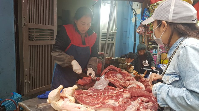 30 tết, hà nội, chợ tết, giá cả, leo thang, thịt lợn - ảnh 5