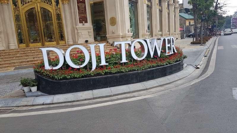 Tập đoàn Doji đề nghị được chỉnh trang lại bồn hoa trước tòa nhà Doji Tower